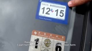 Download The New Single Texas Lic PLate Registration Sticker- Auto Repair Video