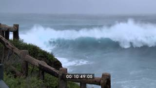 Download Typhoon Fitow Extreme Eyewall And Huge Waves Stock Footage Screener HD 1920x1080 30p Video