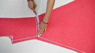 Download Umbrella Suit/Gown Cutting (Step By Step) In Easy Way Video
