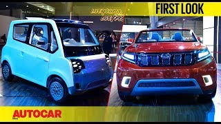 Download Mahindra Stinger Concept SUV & EV's | Auto Expo 2018 | First Look | Autocar India Video