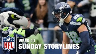 Download Sunday's Best (and Worst) Moments from Week 11 | Sunday Storylines | NFL Network Video