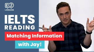 Download IELTS Reading: General and Academic | MATCHING INFORMATION with Jay! Video