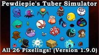 Download Pewdiepie's Tuber Simulator - Looking at All 26 Pixelings from Version 1.9.0 Update. Video