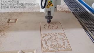 Download Philicam 1325 cnc router with air cooling spindle engraving complex patterns on MDF Video