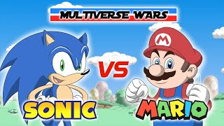 Download Super Mario vs Sonic the Hedgehog Animation - MULTIVERSE WARS Video