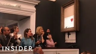 Download Why Banksy's 'Shredded Girl With Balloon' Painting May Now Be Worth £2 Million Video