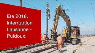 Download Eté 2018, interruption Lausanne - Puidoux. Video