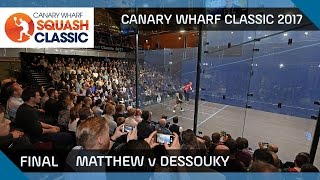 Download Squash: Matthew v Dessouky - Canary Wharf 2017 Final Highlights Video