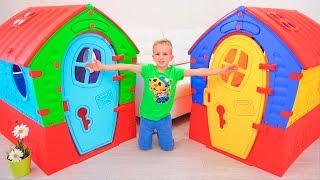 Download Vlad and Nikita build Playhouses for children Video