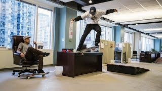 Download Skateboarders take over a Chicago office space - Red Bull Daily Grind Video