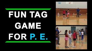 Download Fun Tag Game for Elementary School Physical Education Class Video