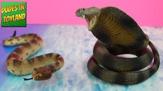 Download Safari Ltd Incredible Creatures Sidewinder Rattlesnake and cobra snakes toys videos for kids Video