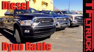 Download 2017 Chevy Duramax vs. Ford Power Stroke vs. Ram Cummins: HD Diesel Dyno Battle Video