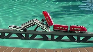 Download Lego trains crashes on a bridge and more compilations Video