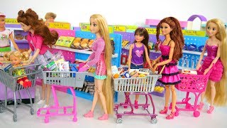 Download Barbie Doll Supermarket Grocery Shopping Poupée Supermarché Lebensmittel Einkaufen باربي محل بقالة Video
