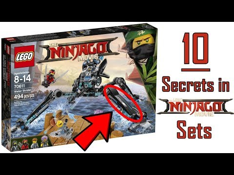 10 HIDDEN SECRETS in the LEGO NINJAGO MOVIE SETS!