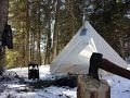 Download SOLO WINTER CAMP -30 NIGHTS IN KANGUK ATUKTENTS Video