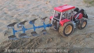 Download Schlüter 1250 VL |RC Tractor|Pflügen im Sand |Ploughing deep Sand|4-Schar Rabewerk (2016) Video