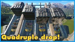 Download QUADRUPLE DROP! Fjorir: Dwarven Coaster | Coaster Spotlight 361 #PlanetCoaster Video