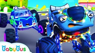Download Police Truck Chases Bad Guy | Police Cartoon | Nursery Rhymes | Kids Songs | Color Song | BabyBus Video