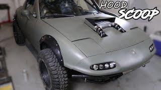 Download Supercharging the Rally Miata Pt.4 - DIY Hood Scoop Video