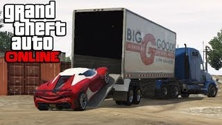 Download GTA 5 Online - Hauling Cars In Semi Trucks ! How To Transport Cars In a Trailer (GTA V Online) Video