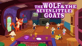 Download The Wolf and The Seven Little Goats Story English Fairy Tales & Moral Bedtime Stories Video
