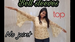 Download How to sew Bell sleeves top | No joint for bell | Trending design | tailoring tutorial | DIY project Video