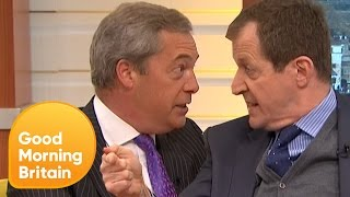 Download Piers Loses Control of Nigel Farage's Brexit Row With Alastair Campbell | Good Morning Britain Video