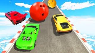 Download SUPERCAR Hillclimb vs. BOWLING BALLS! (GTA 5 Funny Moments) Video
