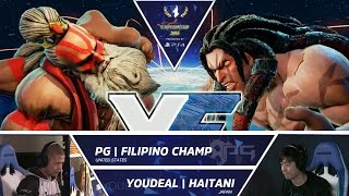 Download SFV: PG Filipino Champ vs YOUDEAL Haitani - Capcom Cup 2016 Day 1 Top 32 - CPT2016 Video