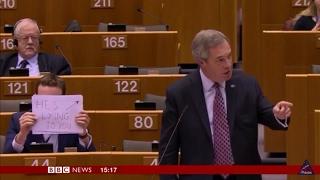 Download Nigel Farage DESTROYS EU Parliament over Donald J Trump. Video