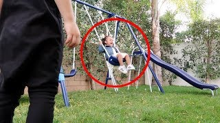 Download Did a ghost push her on the swing? (help) Video