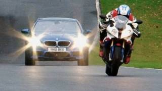 Download New BMW M5 vs BMW S1000RR superbike Video