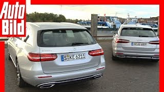 Download Audi A6 Avant vs Mercedes E-Klasse T-Modell (2018) Test / Details / Review Video