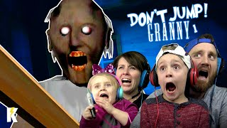 Download Try not to JUMP in GRANNY Horror Game Family Challenge! | KIDCITY GAMING Video