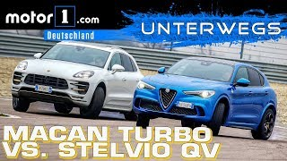 Download Alfa Romeo Stelvio QV vs. Porsche Macan Turbo PP | UNTERWEGS mit Daniel Hohmeyer Video
