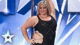 Download A pole-dancing masterclass from Emma Haslam | Britain's Got Talent 2014 Video