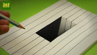 Download INCREIBLE TRUCO - Como dibujar un hoyo en 3D paso a paso - How to draw a 3d hole Video