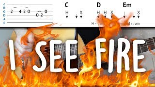 Download I See Fire - Easy Guitar Tutorial | Ed Sheeran - Easy To Understand & step-by-step | How To Play Video