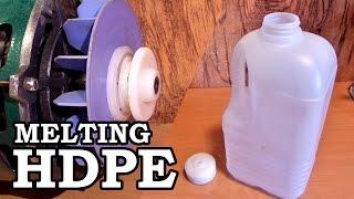 Download Making Plastic Rod Stock - Melting HDPE Milk Jugs Video