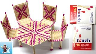 Download Art and Craft Ideas with Matchstick How to Make Table and Chairs Video