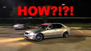 Download 2JZ LEXUS TEARS UP PARKING LOT!!! (INSANE Drifting and Tons of BURNOUTS!) Video