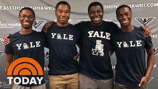 Download Ohio's Wade Quadruplets Start Their Freshman Year At Yale | TODAY Video