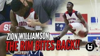 Download Zion Williamson Attempts In-Game Eastbay & Rim Bites Back! Video