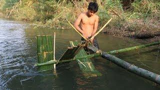 Download Primitive Technology: Bamboo Waterwheel Video