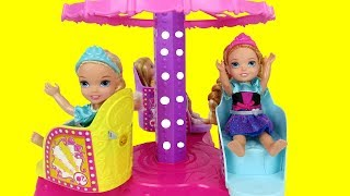 Download Amusement Park ! Elsa and Anna toddlers have fun - Merry-go-round - Fair -Food Video