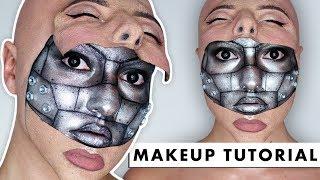 Download HALF MACHINE HALF HUMAN - SFX Makeup Tutorial Video