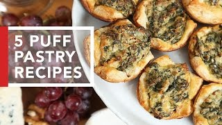 Download 5 Puff Pastry Recipes | Quick & Easy Appetizers Video
