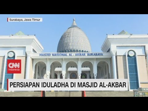 Persiapan Iduladha di Masjid Nasional Al-Akbar Surabaya